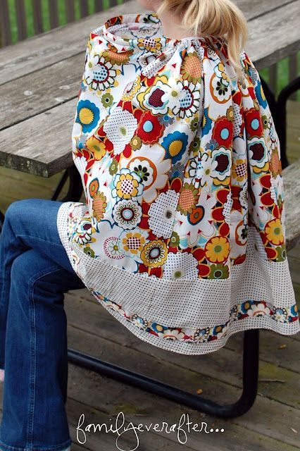 complete coverage, and a peep hole Nursing Cover Tutorial   Sewing ...