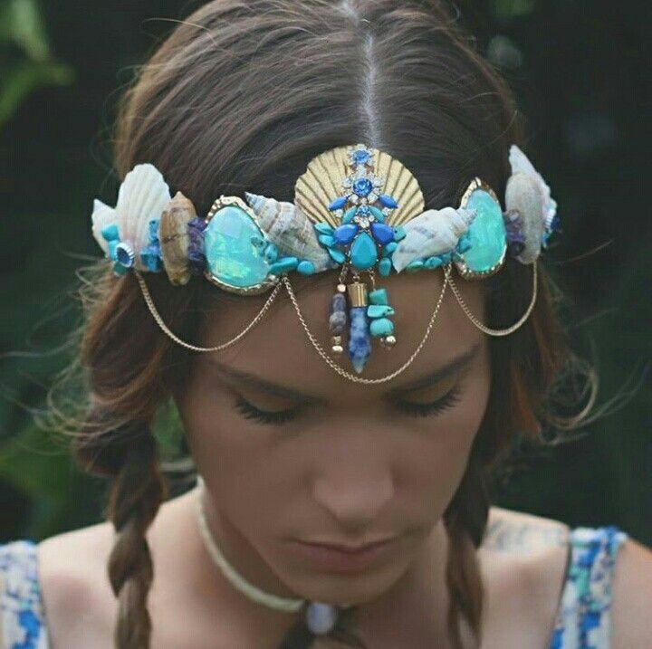 Caracoles conchas mar sea tiara accesorios para el cabello - Como hacer adornos para el pelo ...