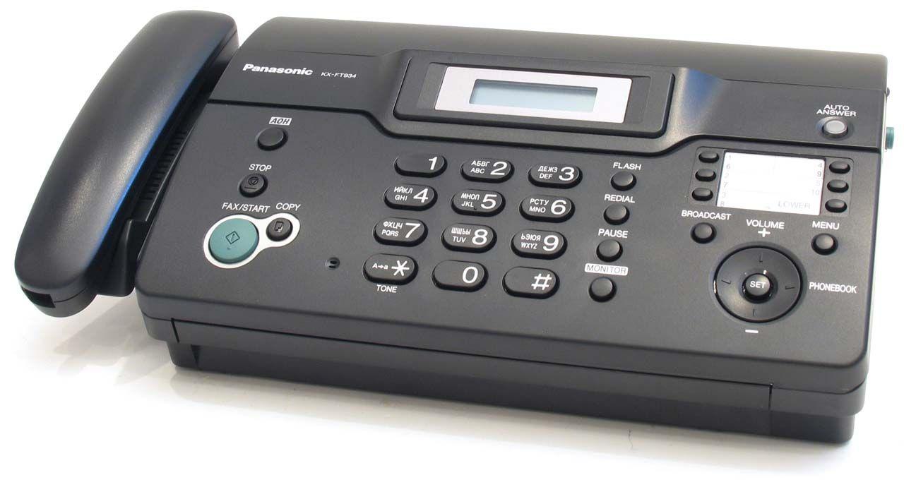 инструкцию факса panasonic