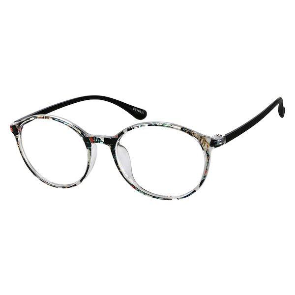 cf2279f39b Zenni Round Prescription Eyeglasses Pattern Tortoiseshell TR 2018639 ...