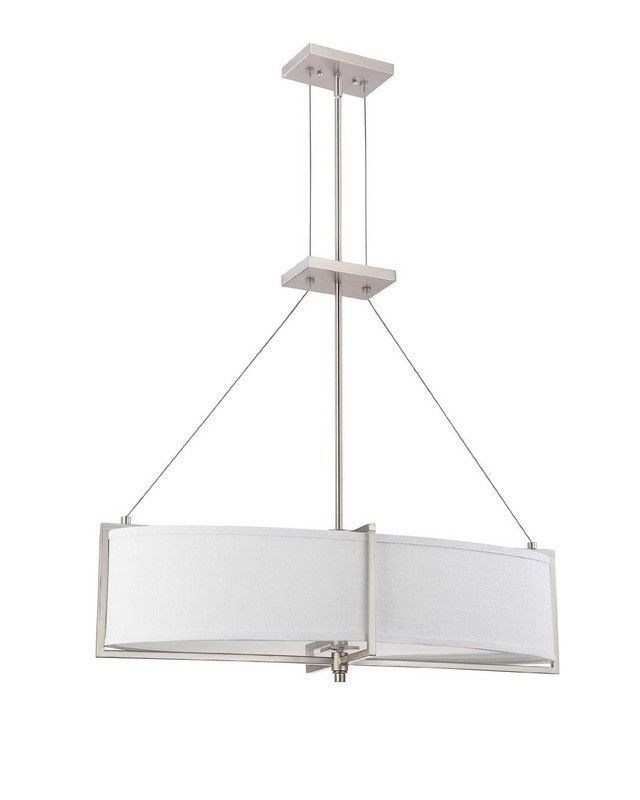 nuvo lighting portia collection oval four light energy star efficient fluorescent gu24 chandelier - Nuvo Lighting