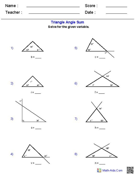 triangle angle sum worksheets school work pinterest triangle angles worksheets and. Black Bedroom Furniture Sets. Home Design Ideas