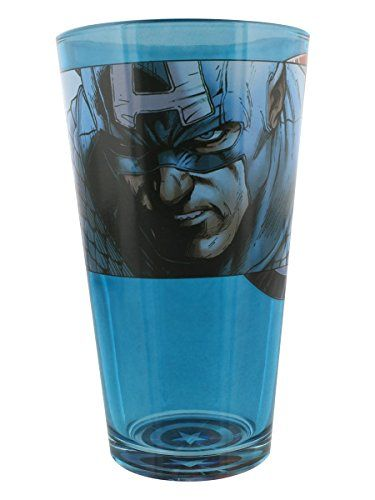 Captain America  Solemn Portrait Pint Glass -- Click on the image for additional details.