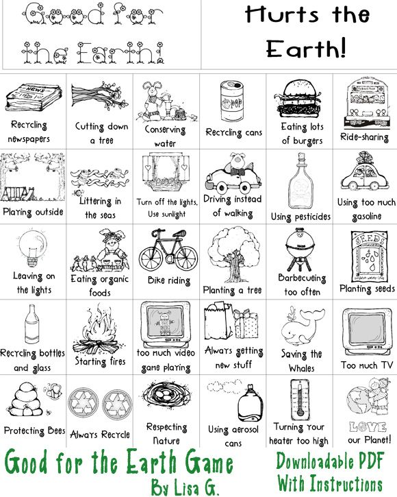 Printable Earth Day Game For Kids Earth Day Activities Earth