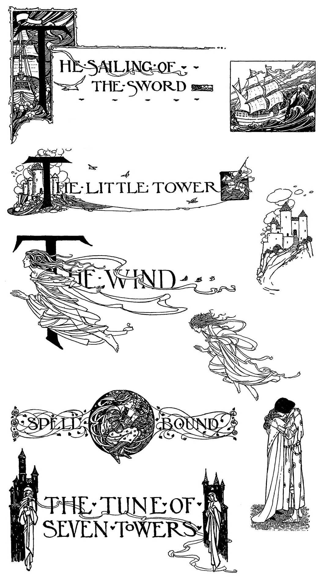 Chapter headings and tail pieces designed by Florence