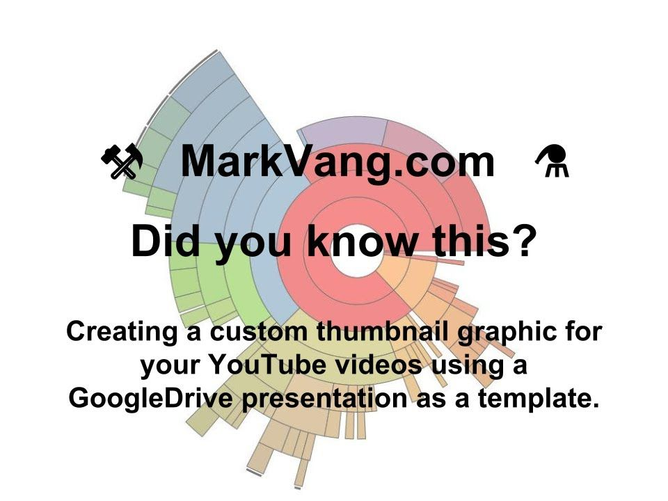 Creating a YouTube custom thumbnail graphic with Google