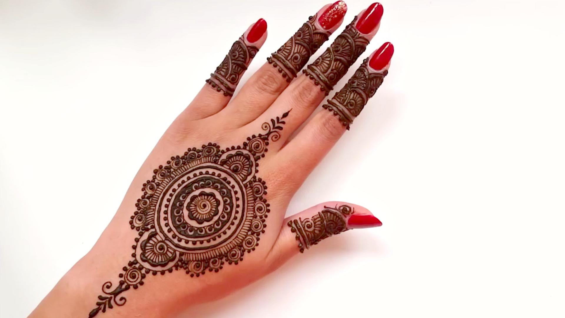 Beautiful Mehndi Design Tutorial : Intricate mandal bridal henna tattoo design beautiful