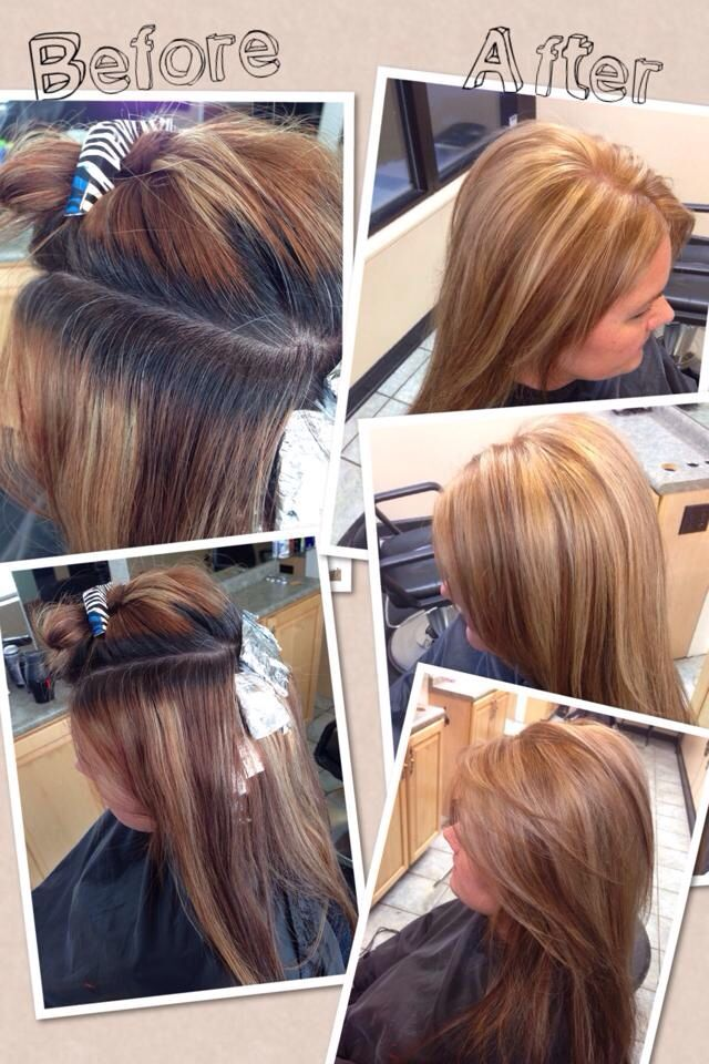 Color Correction Root Touch Up Highlights Layered Cut And Blowdry