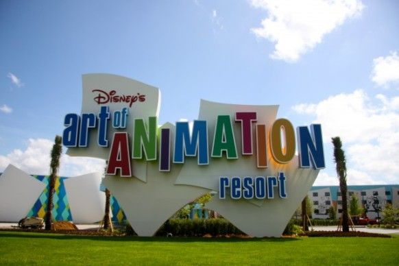 Click photo for a video of the opening of the Art of Animation Resort