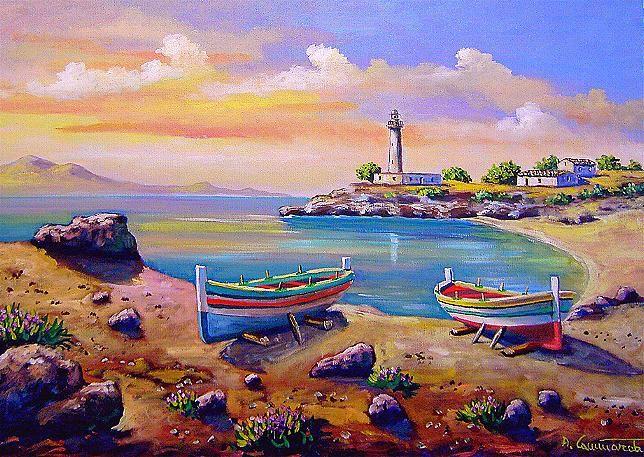 Paesaggi quadri olio su tela vendita dipinti pittori for Quadri dipinti a mano paesaggi
