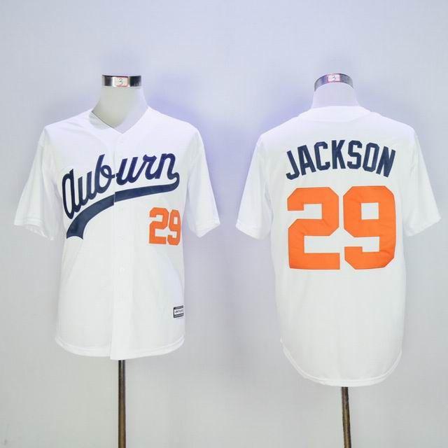 cheap for discount 01c9f 24f9b Mens Auburn Tigers #29 Bo Jackson White Majestic Cool Base ...