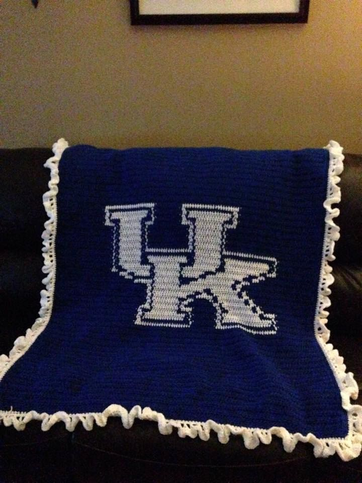 University Of Kentucky Crocheted Afghan By
