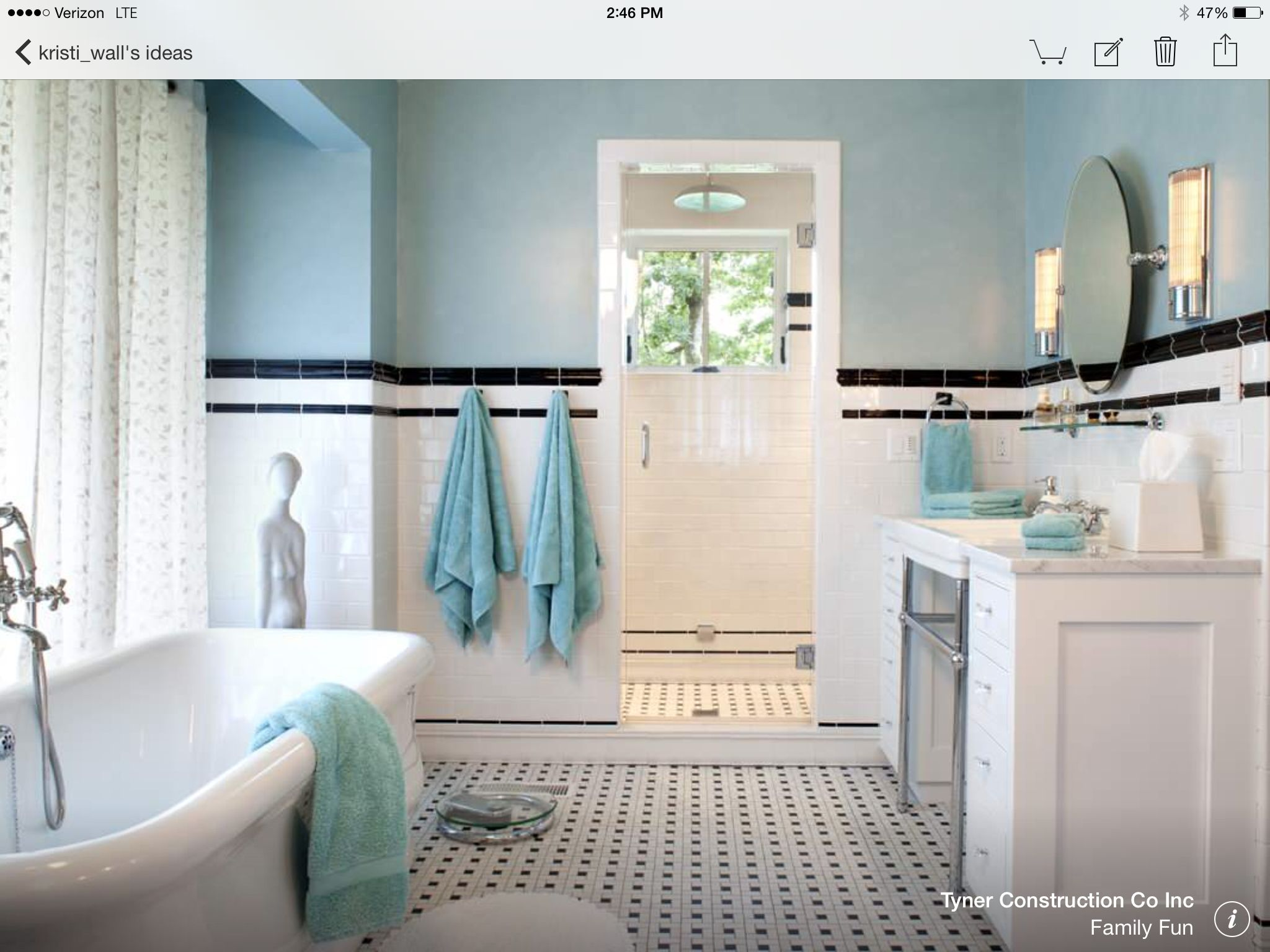 Houzz black and white bathroom - From Houzz Enclosed Shower Room In Front Of Window Black White Bathroomsblack