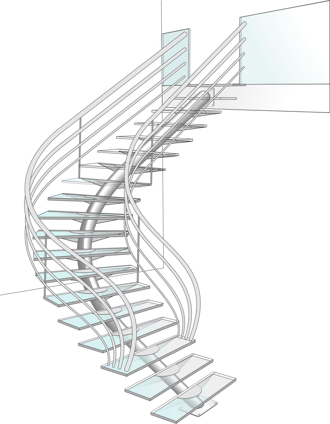 dessin tude escalier design m tal et verre escaliers pinterest escalier design tude et. Black Bedroom Furniture Sets. Home Design Ideas
