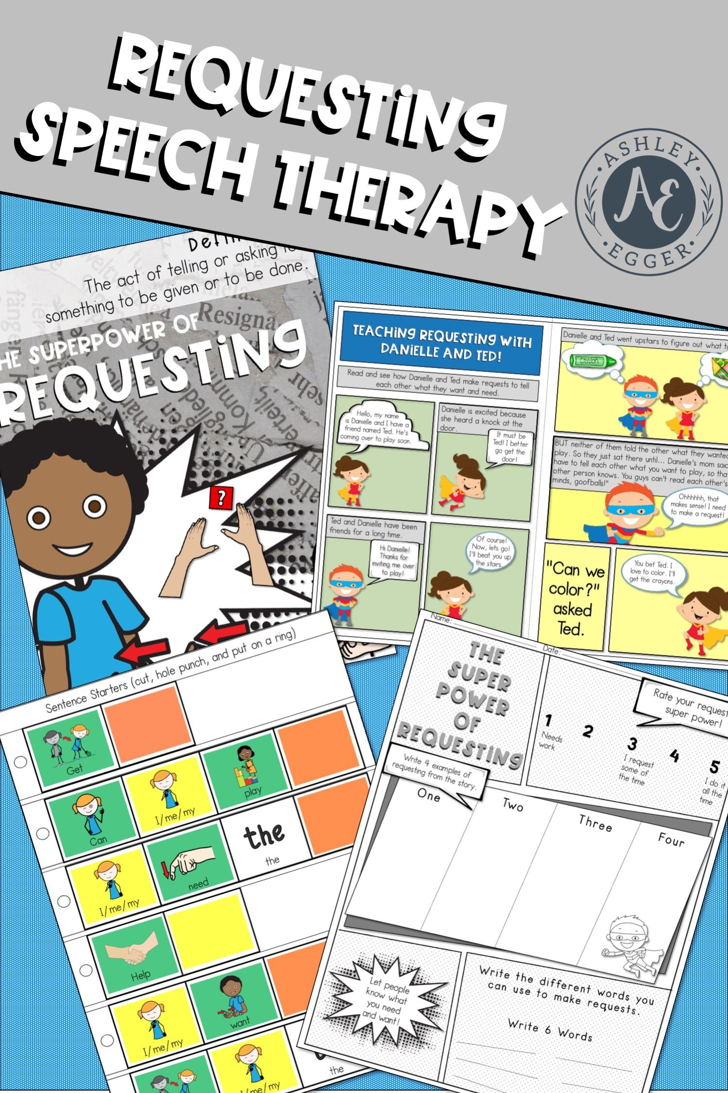Requesting Speech Therapy And Pragmatic Skills Activities