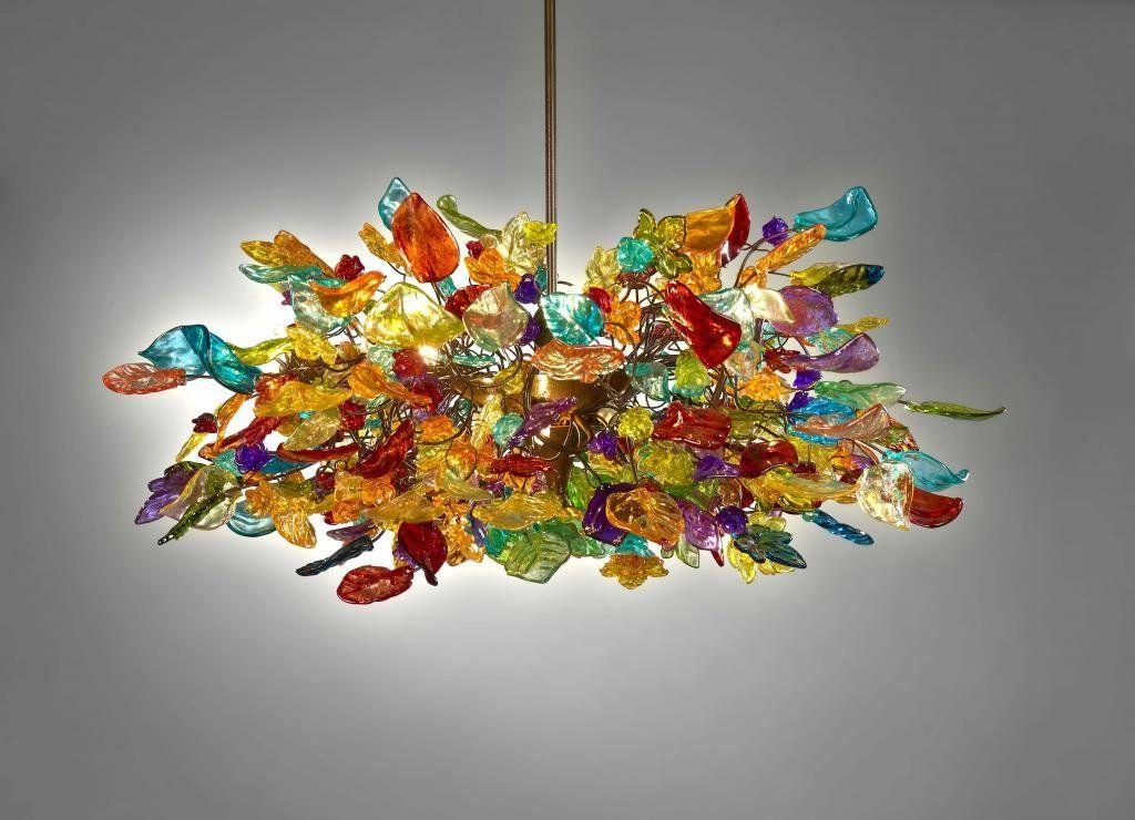 Ceiling Lights Colourful Flower Chandelier Modern Chandeliers