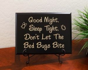 Good Night, Sleep Tight, Don't Let The Bed Bugs Bite | tattoos | Bed