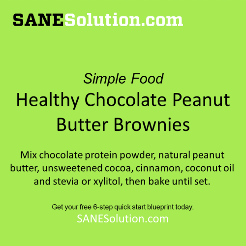 Healthy Chocolate Peanut Butter Brownies -   -