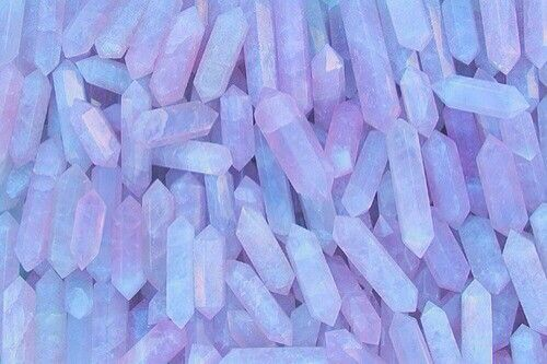 Crystal Pink And Purple Kep Pastel Aesthetic Rainbow
