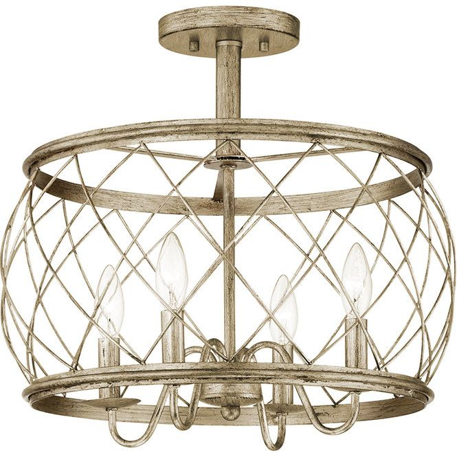 Trellis Cage Semi Flush Ceiling Light Large Semi Flush