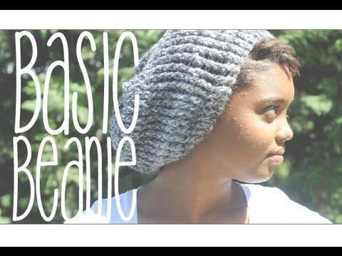 Basic Slouchy Beanie - YouTube | Crochet | Pinterest | Mütze häkeln ...