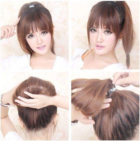 Japanese Style Cute Updos Diy Hairstyles Trend Peinados Femenina Moda