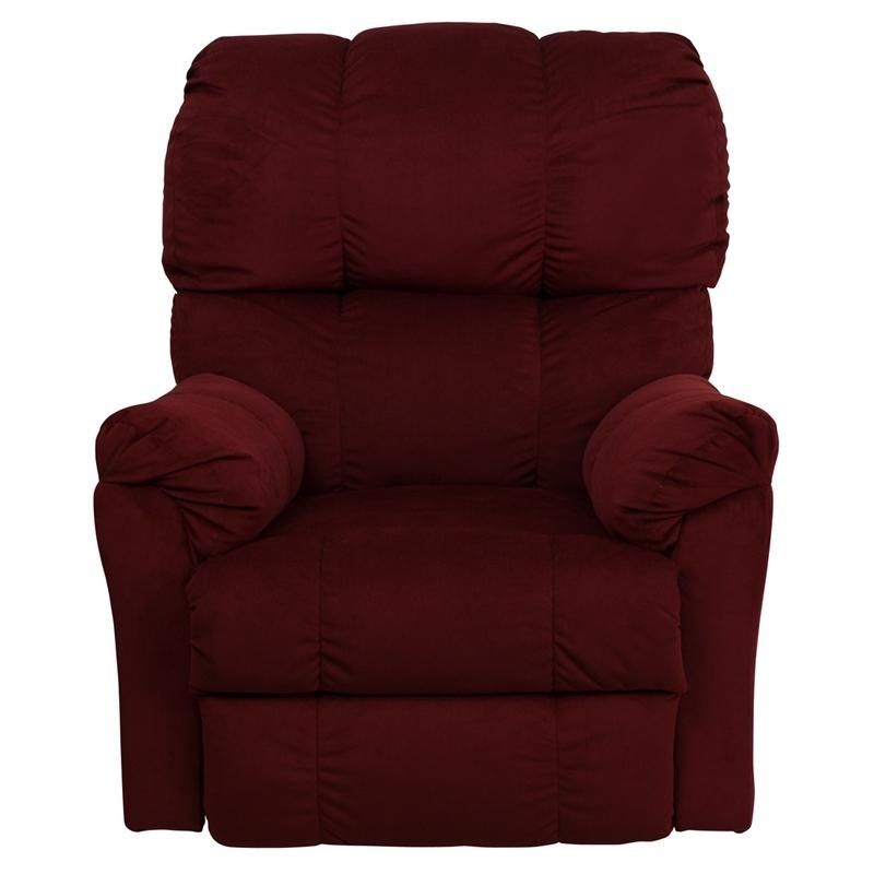 Microfiber Recliner Stylish And Comfortable Rocker Recliner Berry Red Colored Microfiber Upholst Flash Furniture Stylish Recliners Rocker Recliners