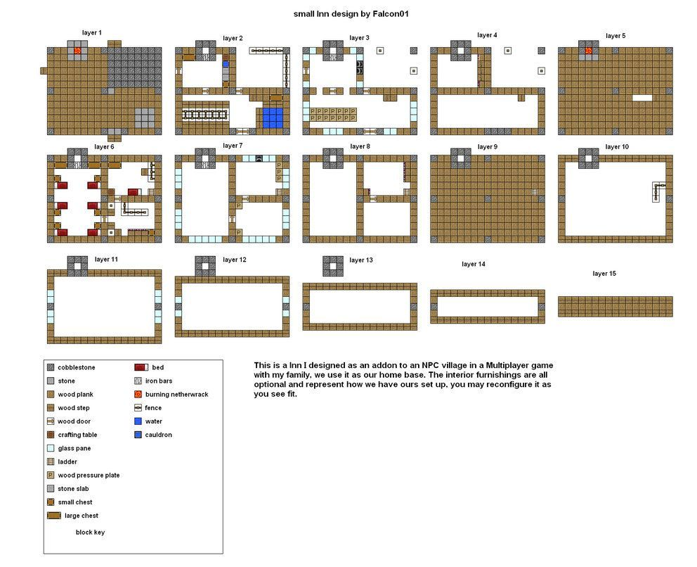 Image Result For Minecraft Inn Blueprints Minecraft Houses Blueprints Easy Minecraft Houses Minecraft Modern House Blueprints