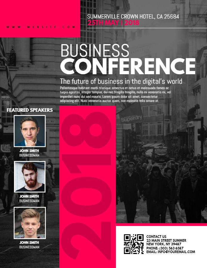 business conference flyer design template ses flyer template