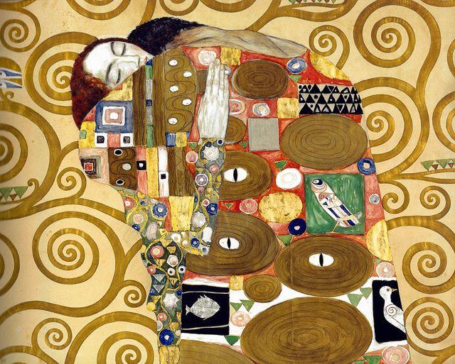 Gustav Klimt Fulfillment 1909 At Fine Arts Museum Strasbourg France Gustav Klimt Klimt Art