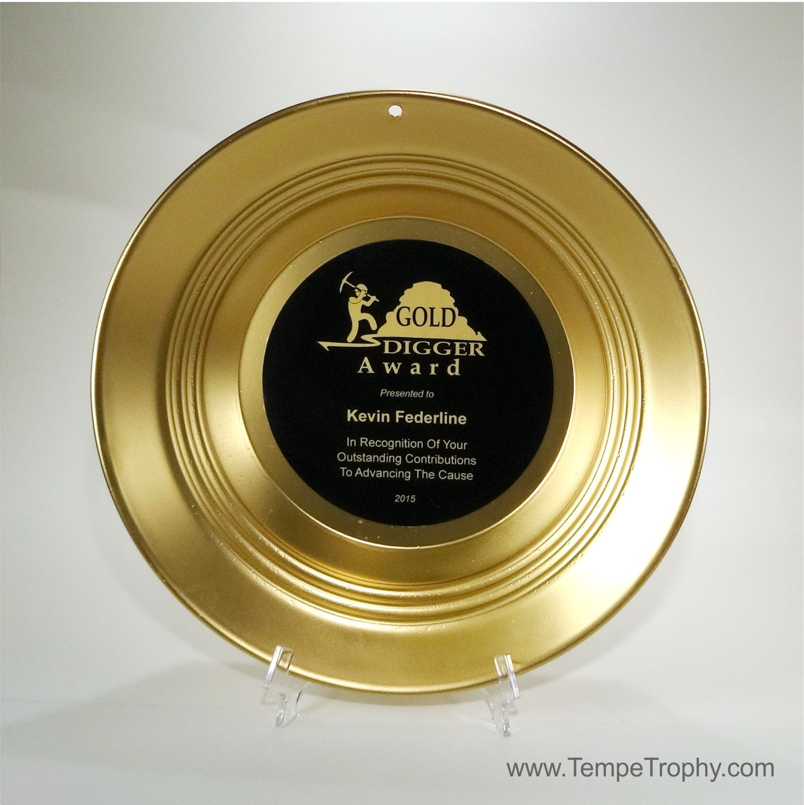 Gold Digger Award Yes This Is Made From A Real Panning Pan