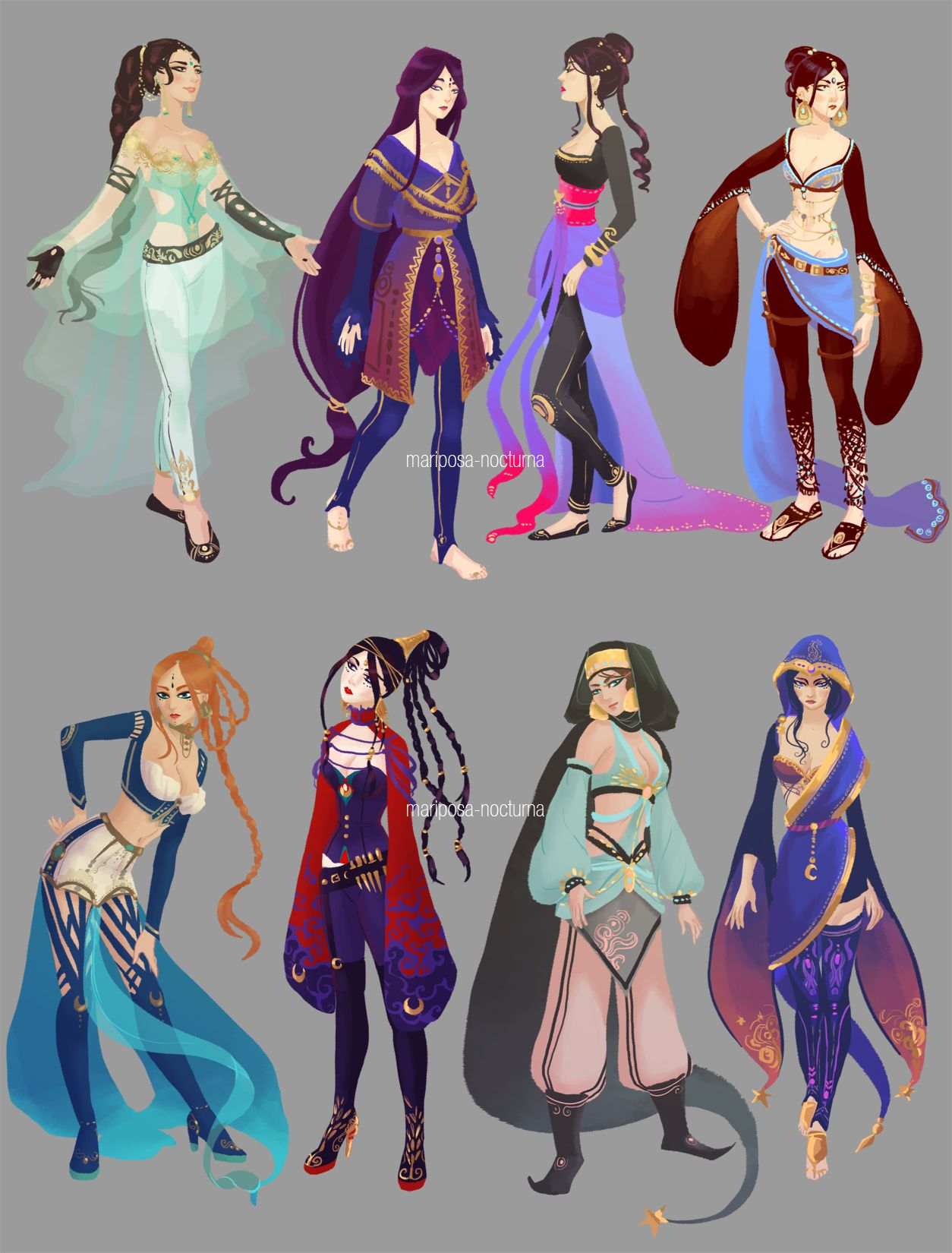 Character Analysis For Costume Design : Tumblr sketchdump costume design research by mariposa