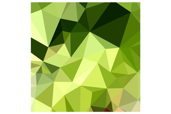 Electric Lime Green Abstract Low Polygon Background. Low polygon style illustration of electric lime green abstract geometric background.The zipped file includes editable vector EPS, hi-res JPG and PNG image. #LowPolygon #ElectricLimeGreenAbstract