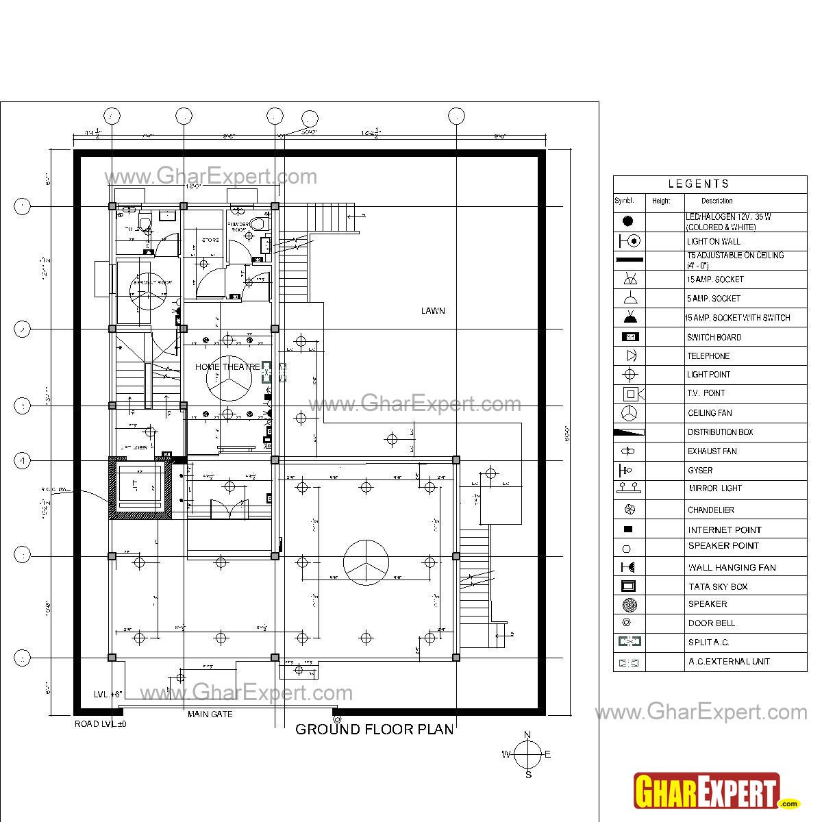 Sample Architectural Structure Plumbing And Electrical Drawings Electrical Layout Plumbing Drawing How To Plan