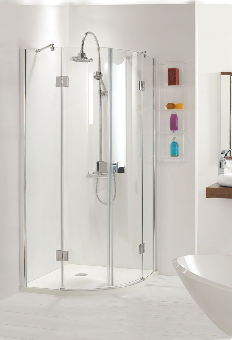 Frameless Quadrant Shower Enclosure Have More Elegant Look Than Fully Framed Doors And They Can Bathroom Shower Enclosures Frameless Shower Enclosures Bathroom