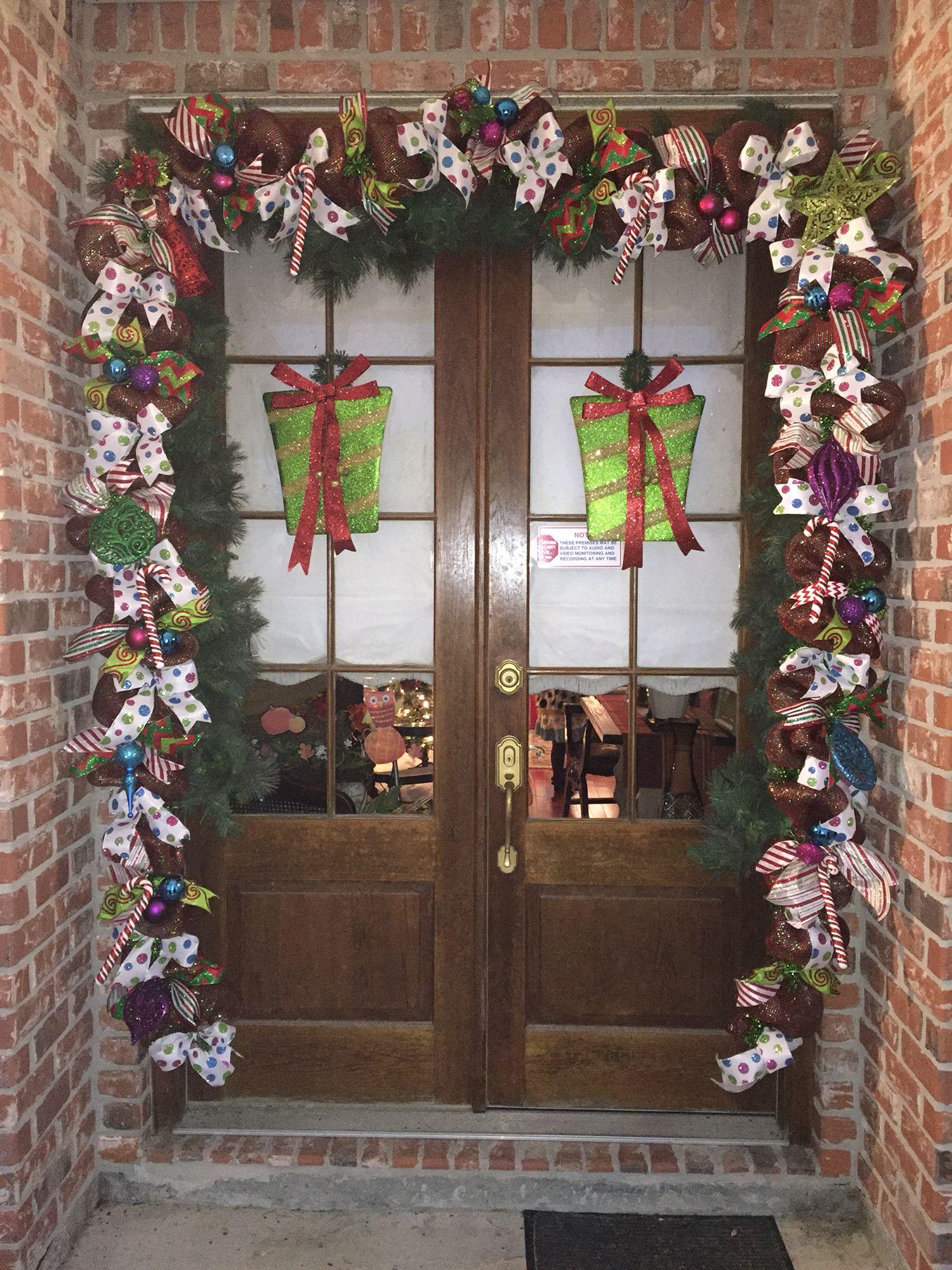 Christmas door decor 2015.