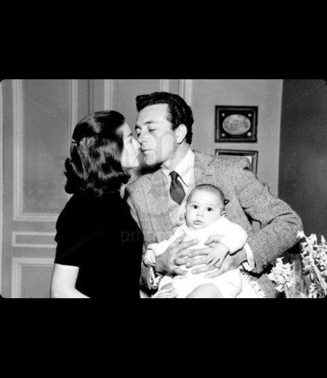 Pier Angeli with Vic Damone and son Perry