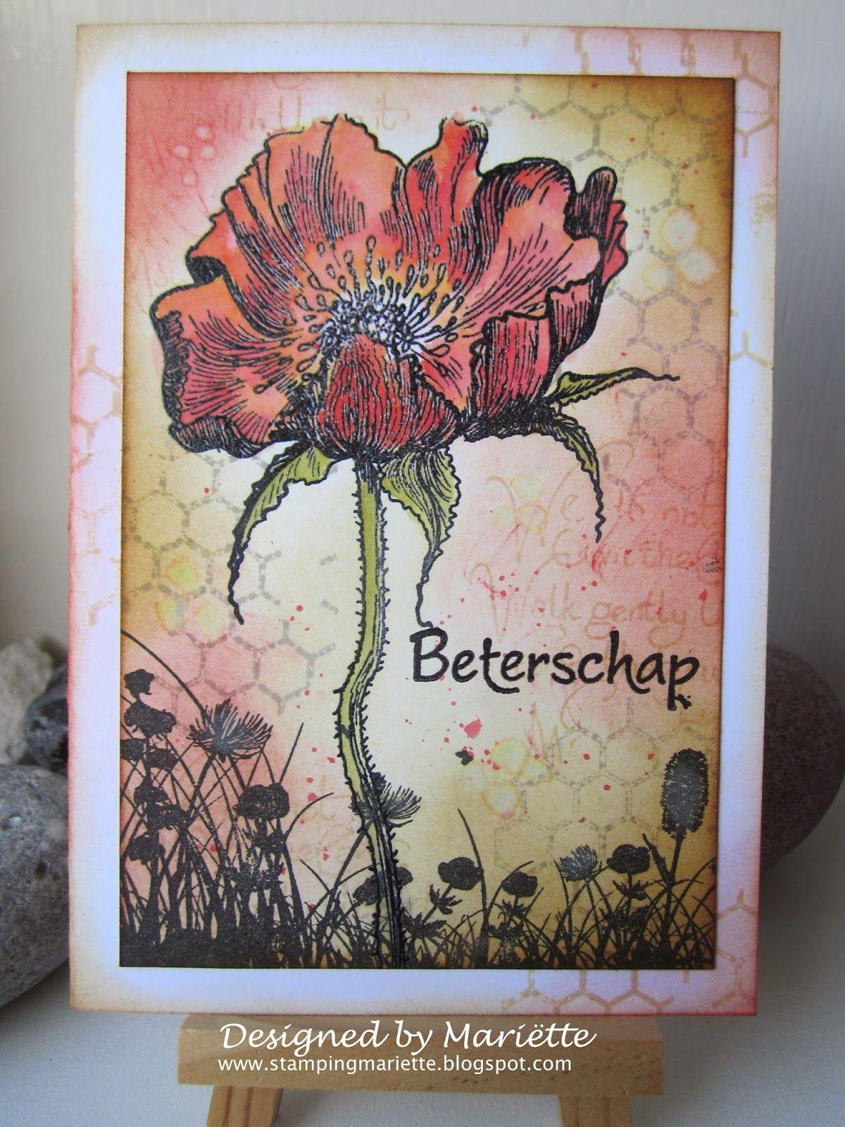 Stamping Mariëtte Beterschap Handgemaakte kaart