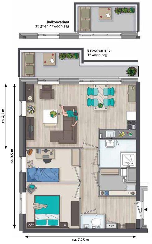 plattegrond ingerichte woonkamer - Google zoeken | New Home ...