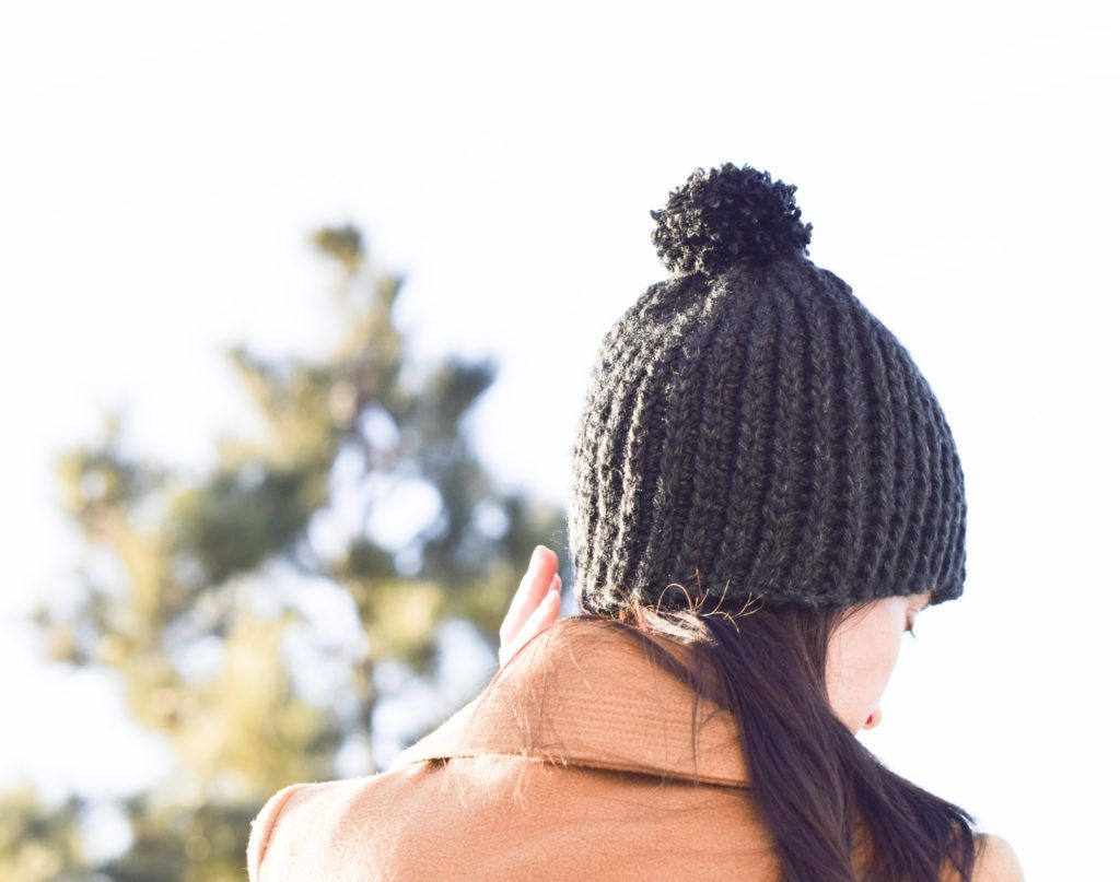 Everyday Ribbed Crochet Hat Pattern | Crochet | Pinterest
