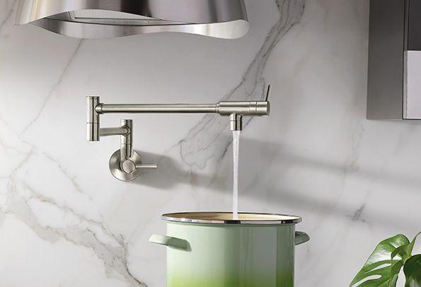 Modern Pot Filler spot resist stainless two-handle kitchen faucet ...