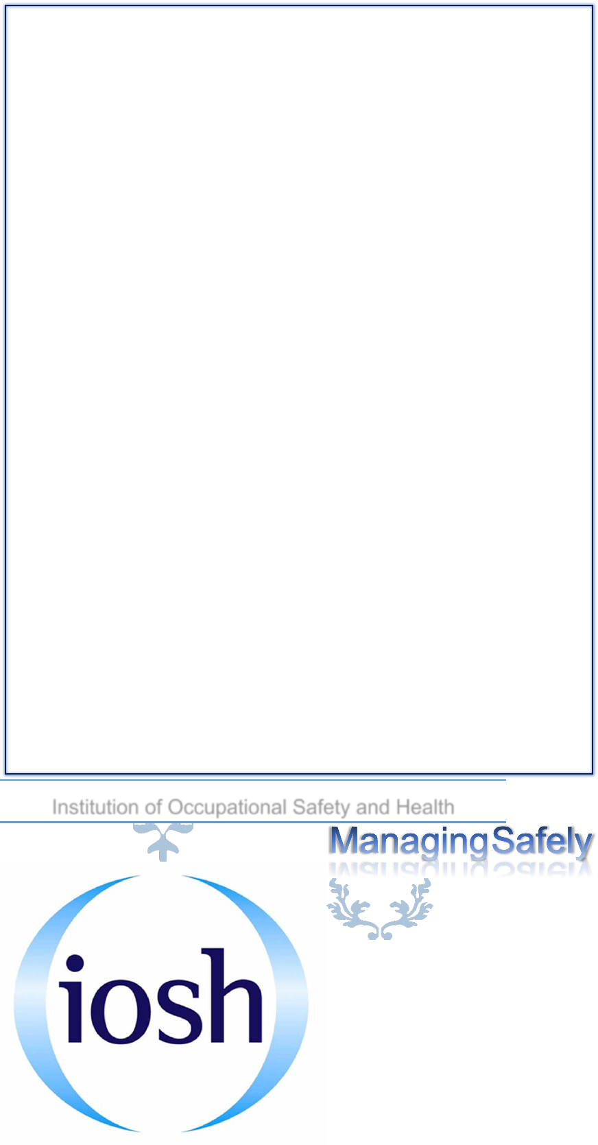 IOSH Text Book Occupational Safety And Health Risk