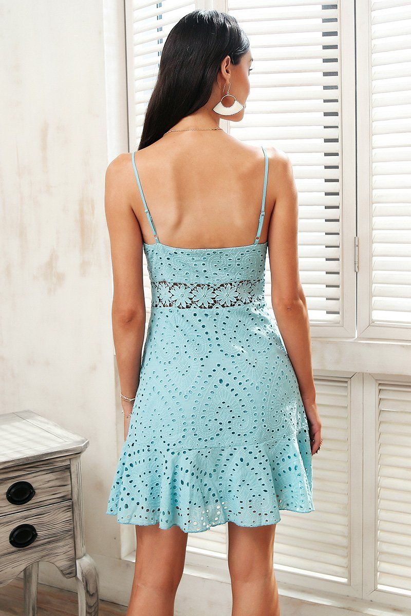 Lacey embroidery summer dress party   Summer dresses, Clothing and ...