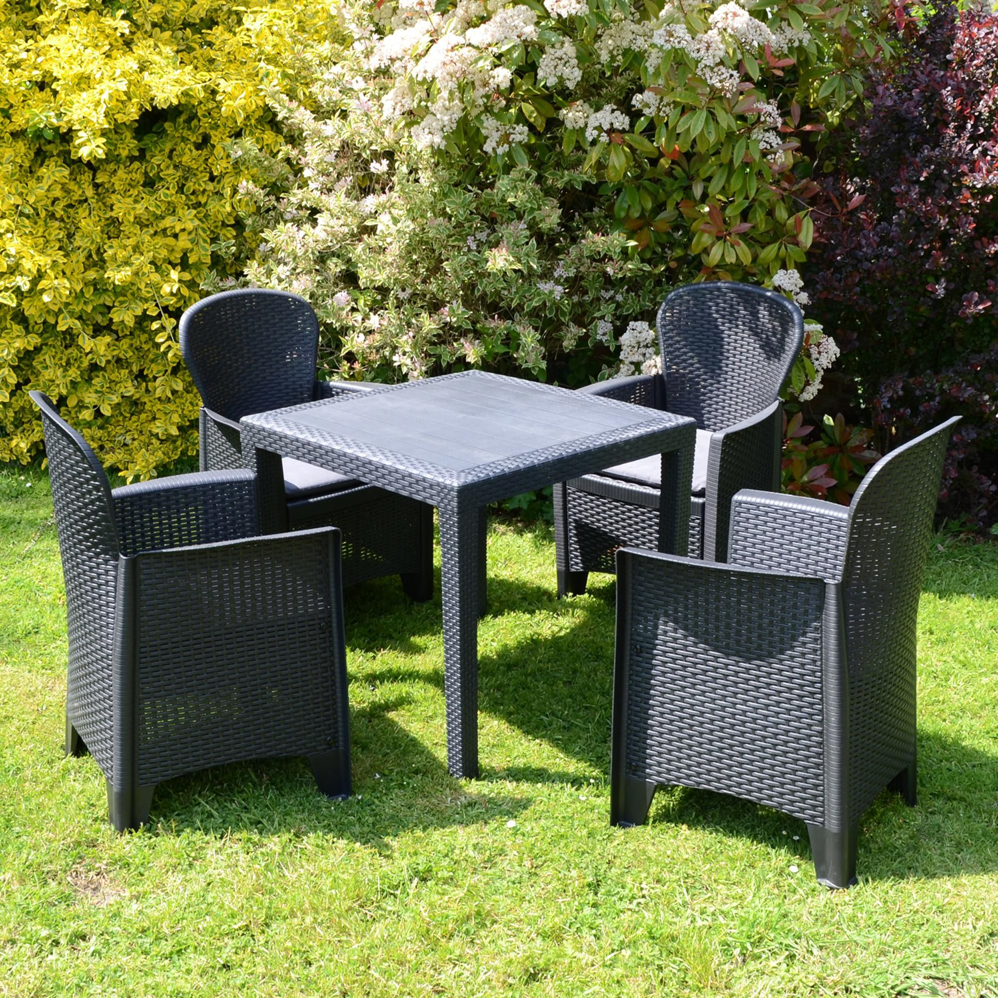 Salerno Table With 4 Sicily Chairs In 2020 Garden Furniture Sets Outdoor Furniture Sets Outdoor