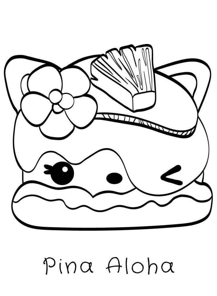 Squishies Coloring Pages Sketch Coloring Page