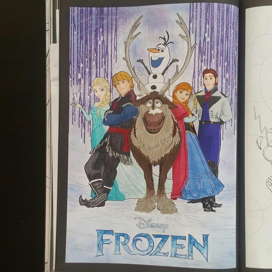 La Reine des Neiges ❄, coloriage issu du livre Les affiches