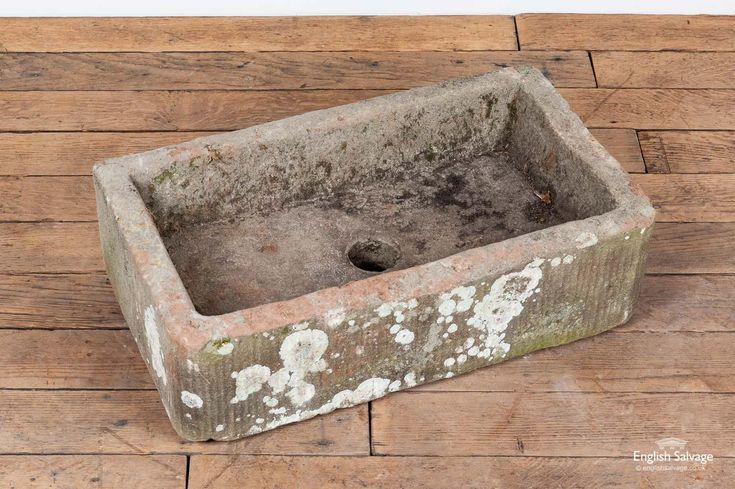Reclaimed small stone trough / sink / planter   Stone ...