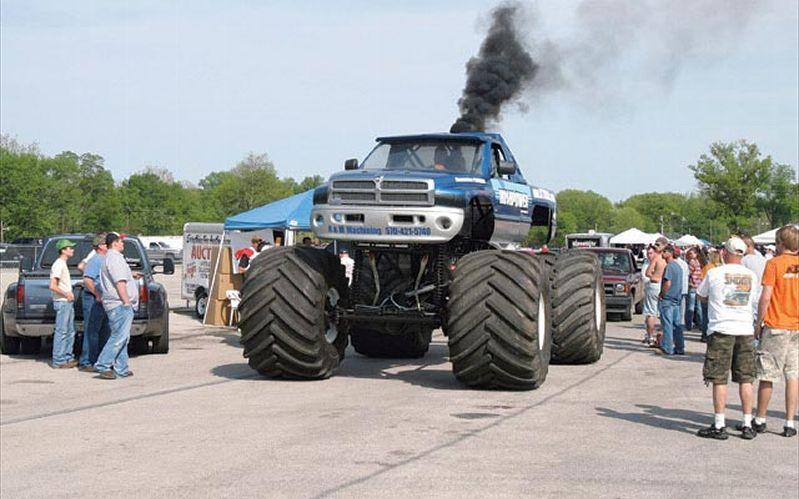 Dodge Ran Black Monster Truck Trucks Dodge Trucks Monster