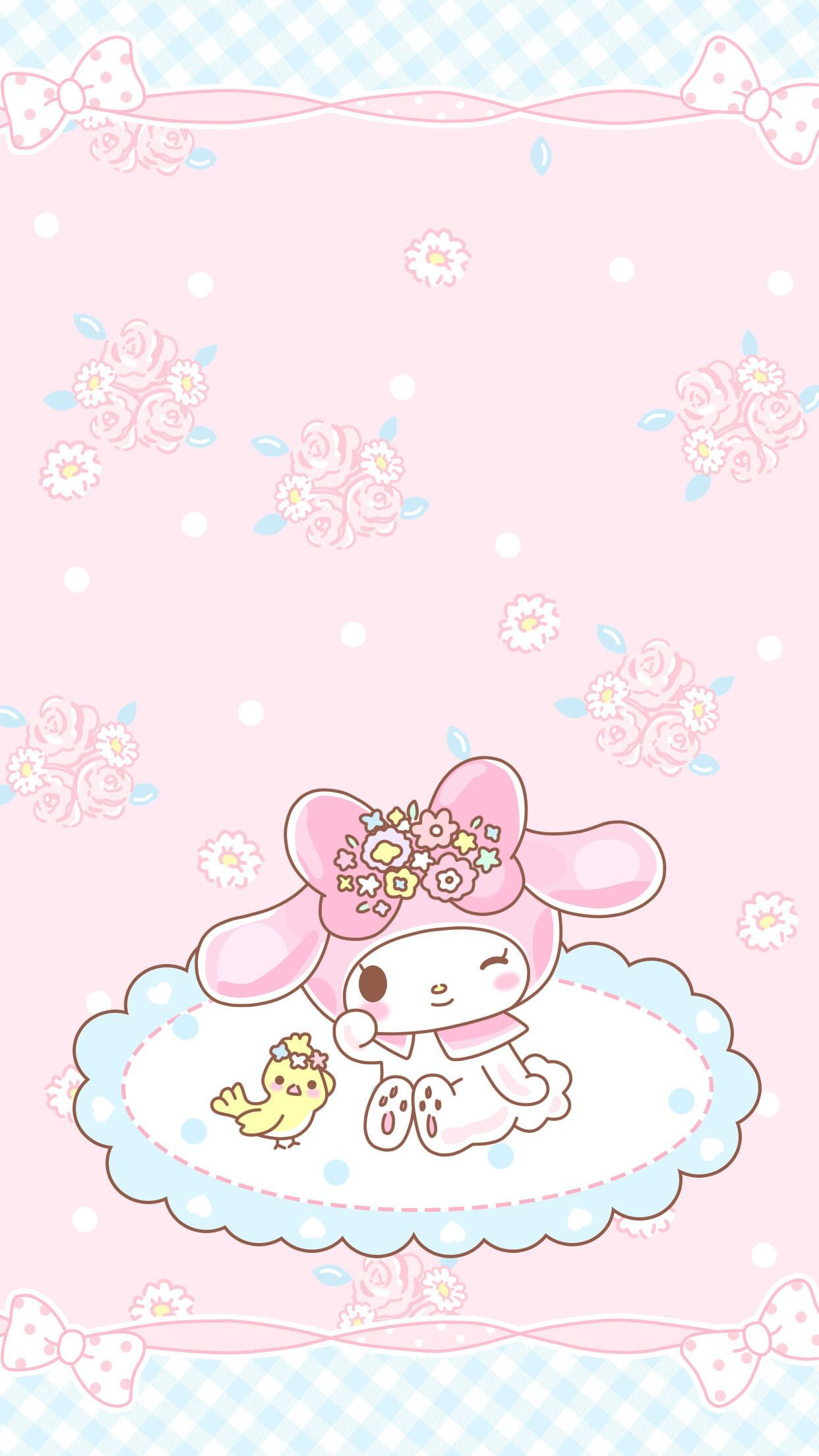 Pink Melody | My melody wallpaper, Sanrio wallpaper, Hello ...