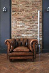 Sillón de cuero Chesterfield  #Chesterfield #cuero #de #decoracion #muebles